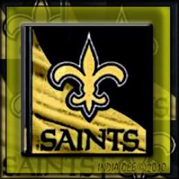 New Orlean's Saints unique black and gold logo
