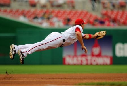 After playing a stunning season at third base, Ryan Zimmerman's defensive prowess and acrobatic grace were rewarded when he was named the first ever ESPN Web Gem Champion.