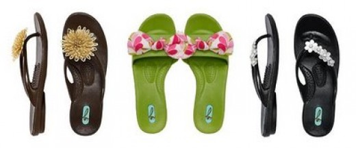 various colors of OKA b spa shoes