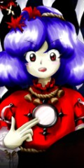 In game art of Kanako (touhou 10)