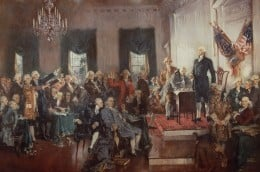 In America the principles of the New Age were incorporated into the Constitution (1787) and became the foundation on which our nation was based.