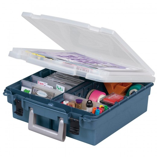 Art and craft storage boxes for artists and crafts persons.