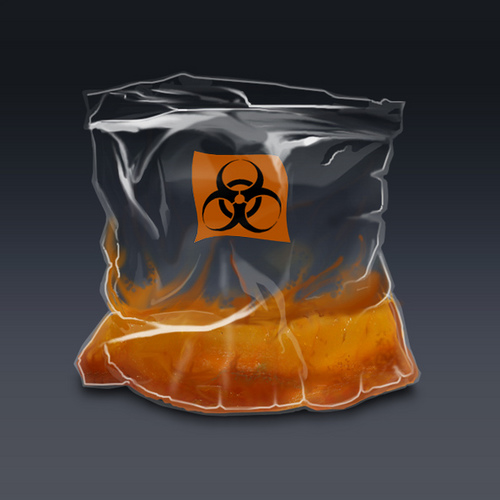 An illustration of human fat in a bag. This is a relatively high energy storing substance.
