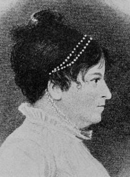 Susanna Rowson (1762 - 1824), author of Charlotte Temple.