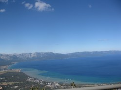 View of the Lake's South Shore from the observation station at the top of the gondola at Heavenly.