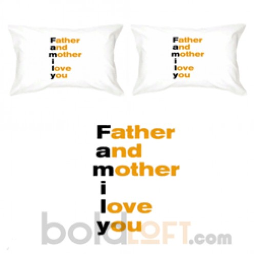 Father And Mother I Love You Pillowcases
