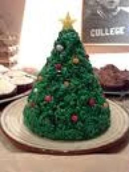 Rice Krispie Chrismas Tree