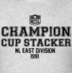 ncsl champion cup stacker nl east division 1991 t shirt