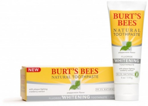 Burt's Bees, an all-natural toothpase