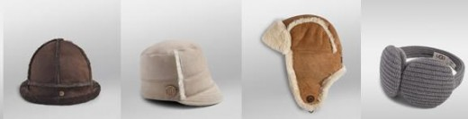 From left to right... Bucket Hat, Pieced Visor Cap, Bailey Aviator, Cardy Earmuff