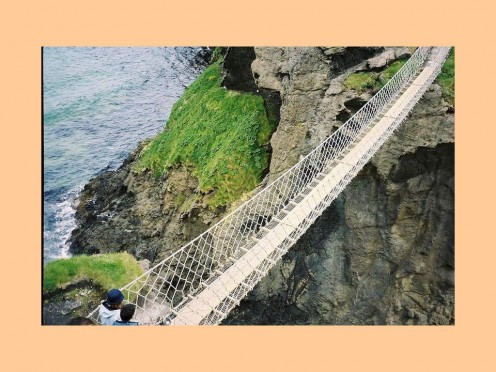 PEDESTRIAN ROPE BRIDGE IN NORTH IRLAND