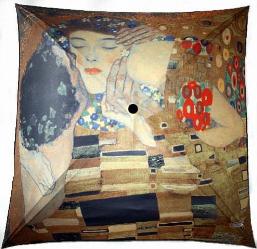 Delos - by Gustav Klimt