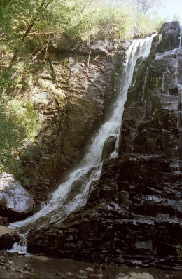 Waterfall at The Hogsback, Eastern Cape. Photo Tony McGregor 1989