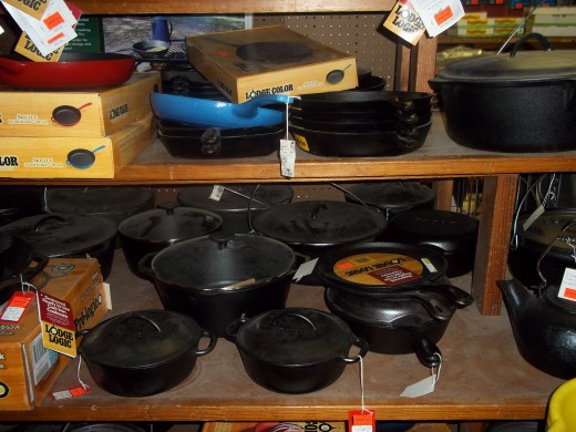 ooh, ooh, here is momma's wish list. One of each of the cast iron, pieces