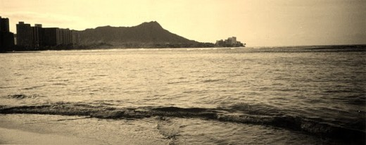 Here is a sepia image I took of Waikiki back in 2002.  I edited the photo to make it sepia because originally it was a regular color photograph.