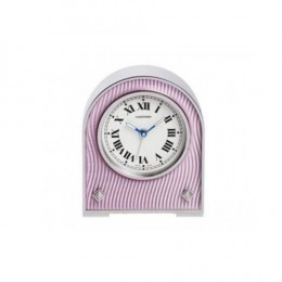 Cartier Alarm Clock with a pink lacquer