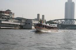 Ferry passing Memorial Bridge