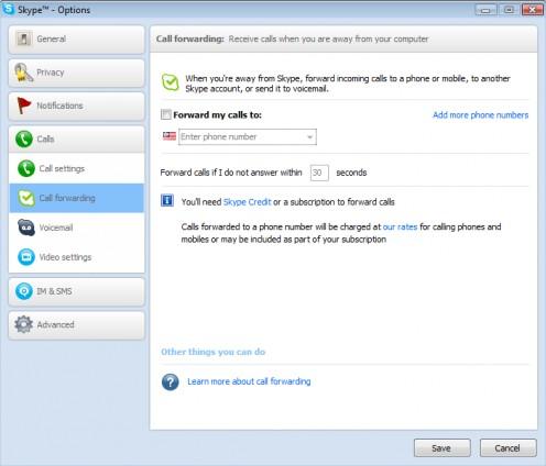 Diagram 4. Skype call forwarding