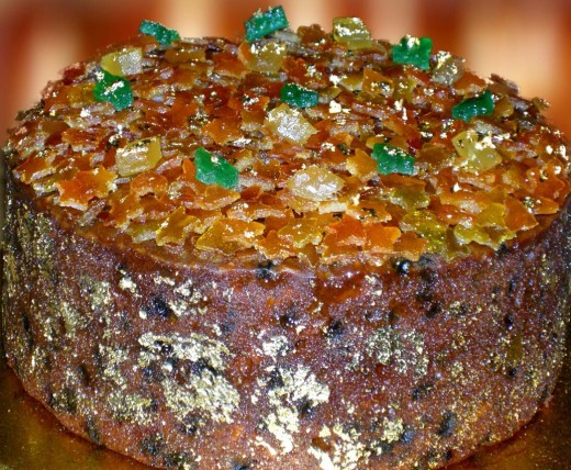 This is my Grand Marnier Christmas Cake that I give to friends every year.