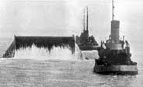 British ships laying the PLUTO pieline in WW2