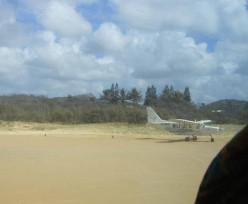 take off and sandy landing - beach as airstrip