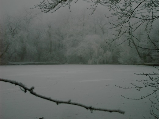 A LAKE OF ICE AND FROST