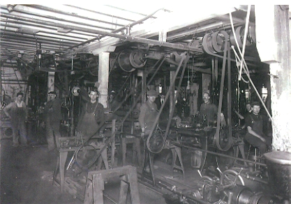 Taken in the 1870s, the machine shop of Robbins & Lawrence would have looked much like this in the early 1850s.