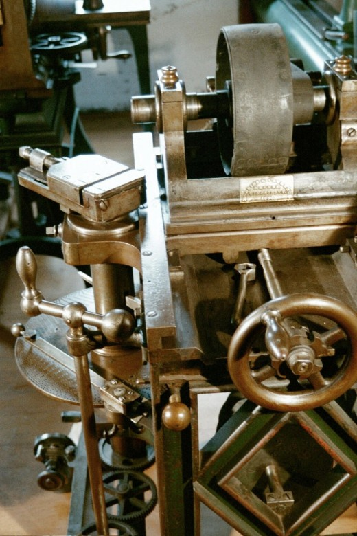 This index machine was built by Robbins & Lawrence in 1850 and was state-of-the-art.  Machine tools would change very little during the following 100 years.