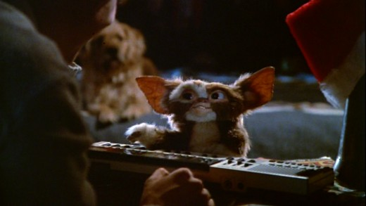 "Gizmo, a ""mogwai,"" voiced by then-young Canadian comedian Howie Mandel"