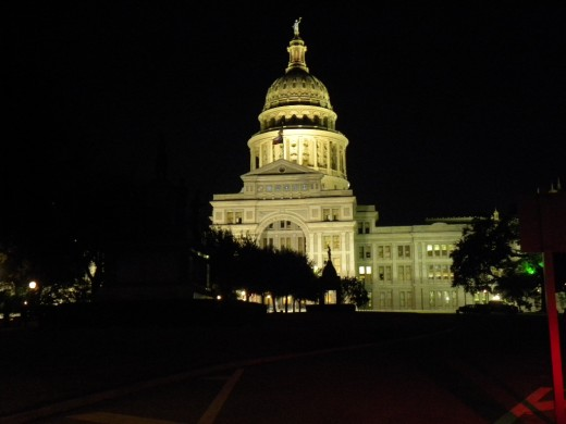Austin TX Capitol at night