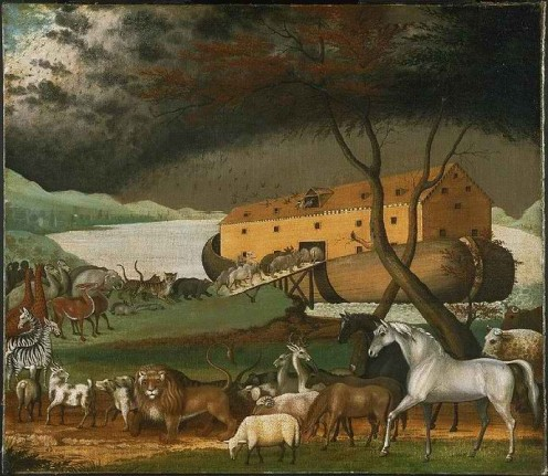 Noah's Ark, by Edward Hicks, 1846. Philadelphia Museum of Art. Public domain.