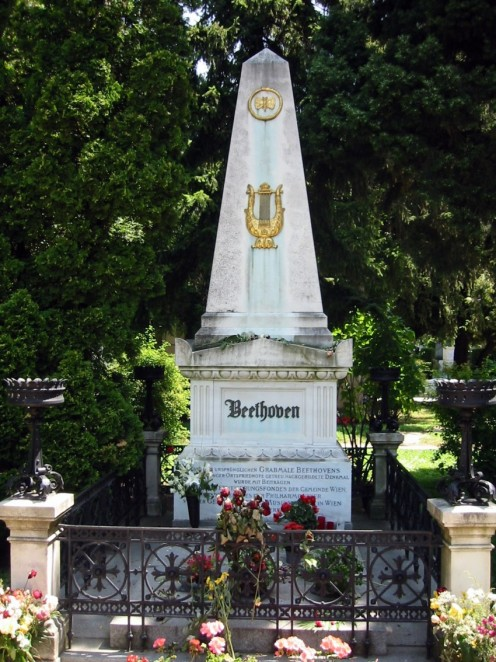 Honorary grave of Ludwig van Beethoven at the Zentralfriedhof in Vienna
