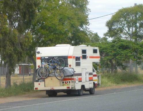 Winnie the Toyota-Winnebago, taking a breather in Marlborough.