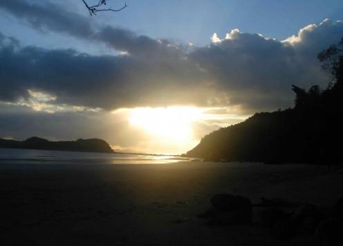 Sun going down behind Cape Hillsborough