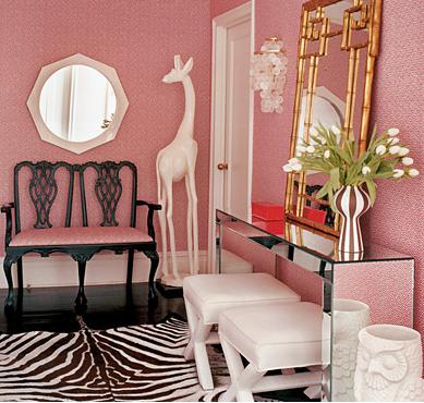 Foyer design by Jonathan Adler