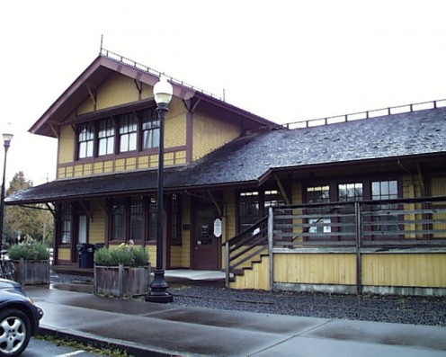 Southern Pacific Railroad Depot in Springfield.