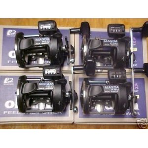 4 PACK OKUMA MAGDA PRO LINECOUNTER REELS