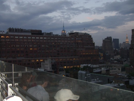 View from Plunge lounge, Hotel Gansevoort, NYC