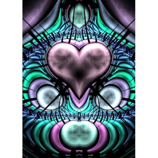 Glowing Heart Fractal