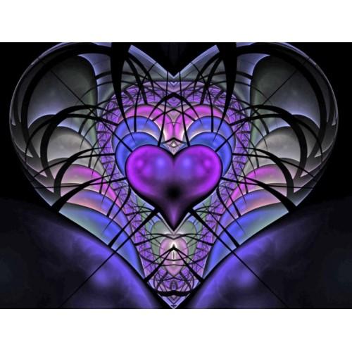 Luminescent Heart Fractal