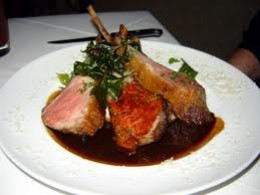 Rack of lamb with rosemary and cranberry sauce