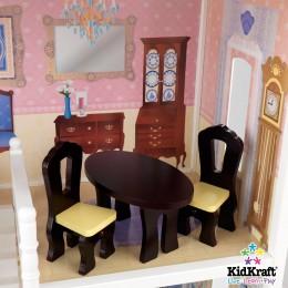 Savannah dollhouse by KidKraft dining area.