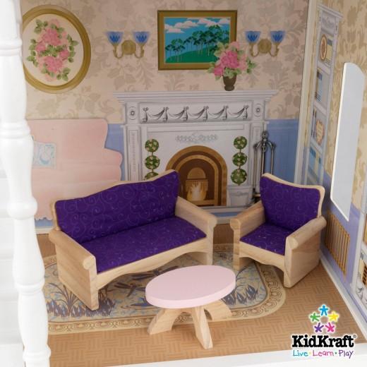 Living room (sitting area) of the Savannah dollhouse 65023.