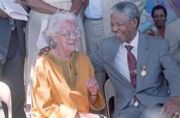 Helen Joseph with Nelson Mandela