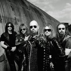 Heavy Metal Band Judas Priest, who were accused of having subliminal messages inciting suicide in their music.