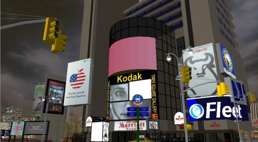 A Scene from the Broadway world in Active Worlds