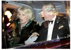 Prince Charles of wales and Camilla are attacked in the royal car - peaceful student protests?