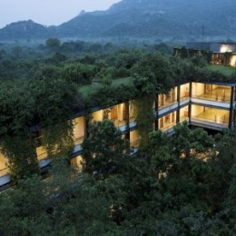 Heritance Kandalama,a luxurious nature friendly hotel surrounded by dense forest