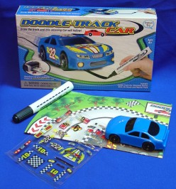 Car, playmat, marker, stickers...