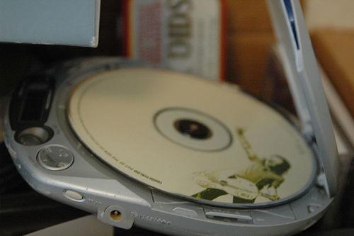 Cassette tape (or) CD player